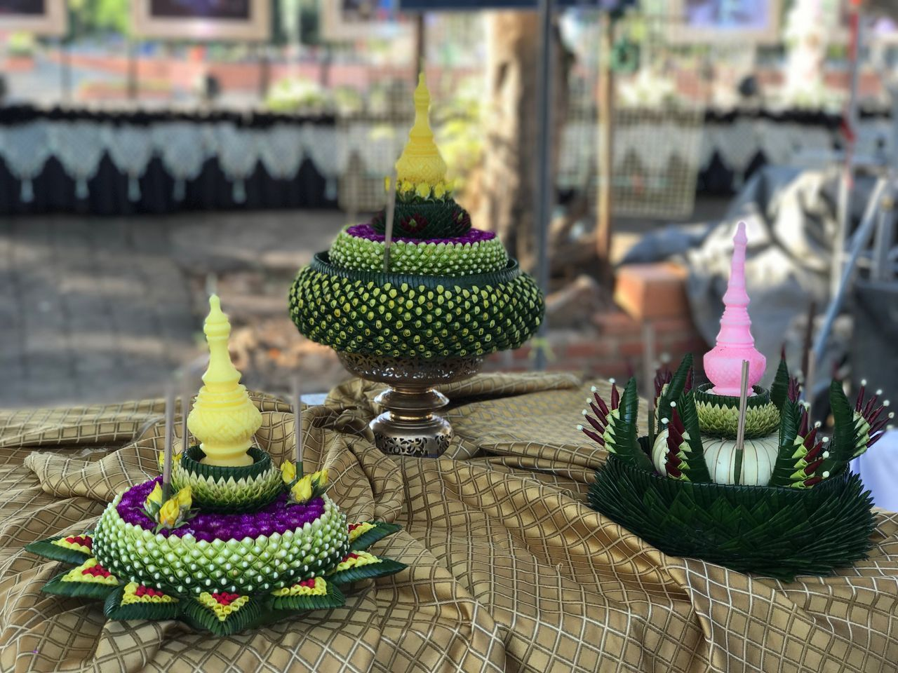 Kratong Bananaleafbowl Handmade Full Moon Thaiculture Culture Wonderful Gorgeous