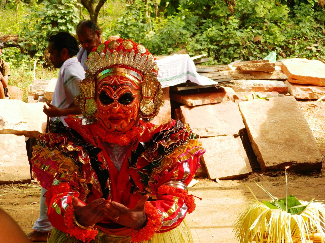 Tradition Real People Outdoors People Bhutakola Day Close-up Place Of Worship Puttur Multi Colored