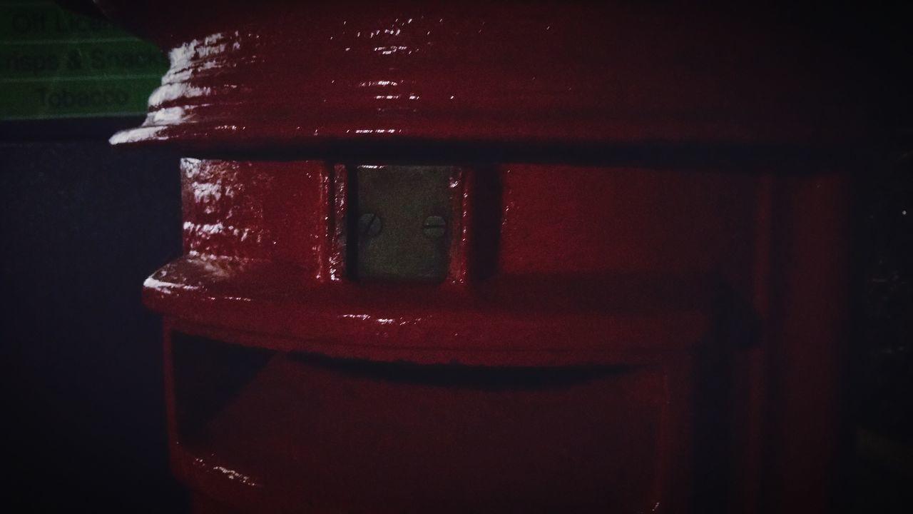 Red Post Box Post Box  Dark Shadow The Cabin Nightphotography