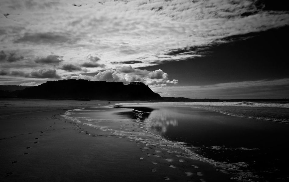 Beach Beauty In Nature Cloud - Sky Day Horizon Over Water Nature No People Sand Sea Tranquility Water