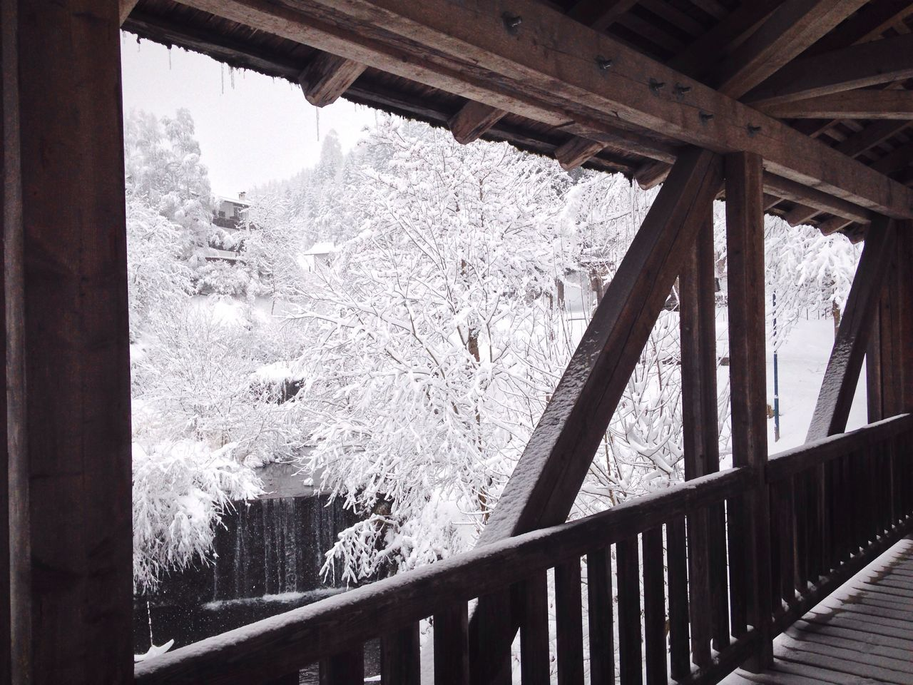 Water Wood Colonnade Snow Winter Wintertime Frozen Nature Tree Forest White Südtirol Italy Alto Adige Trentino Alto Adige Nova Levante Welschnofen Cold Temperature South Tyrol Landscape