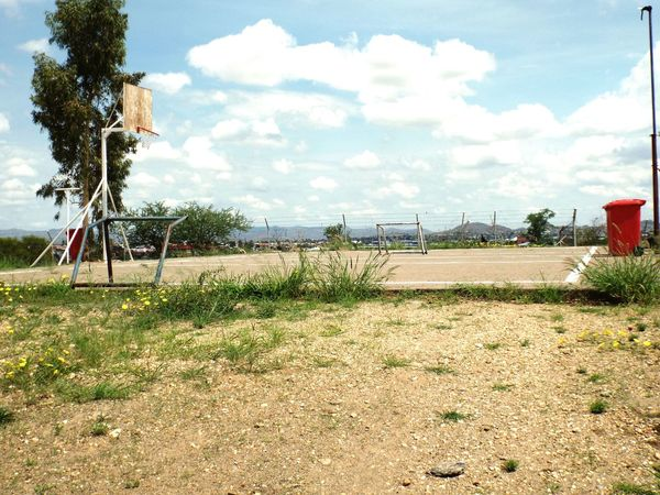 Adapted To The City Cloud - Sky Soccer Soccer Field Outdoors No People Nature Grass Tree Day Sky