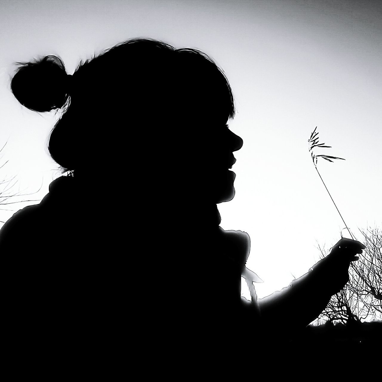 Silhouette Silhouette Photography Silhouettes Of People Silhouette Of A Woman Woman Woman Profile Profile Blackandwhite Black And White Outdoors Silhouette One Person Adults Only Filigran Minimalism Free Waiting For Spring Sunny Day EyeEm Best Shots - Black + White EyeEm Gallery Eyeemphotography EyeEm Bnw