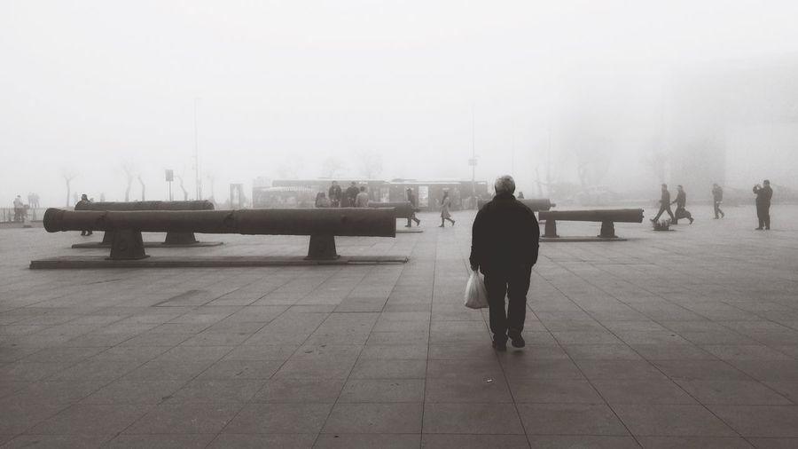 Weather Rainy Season Winter Istanbul Turkey Beşiktaşiskelesi Fog