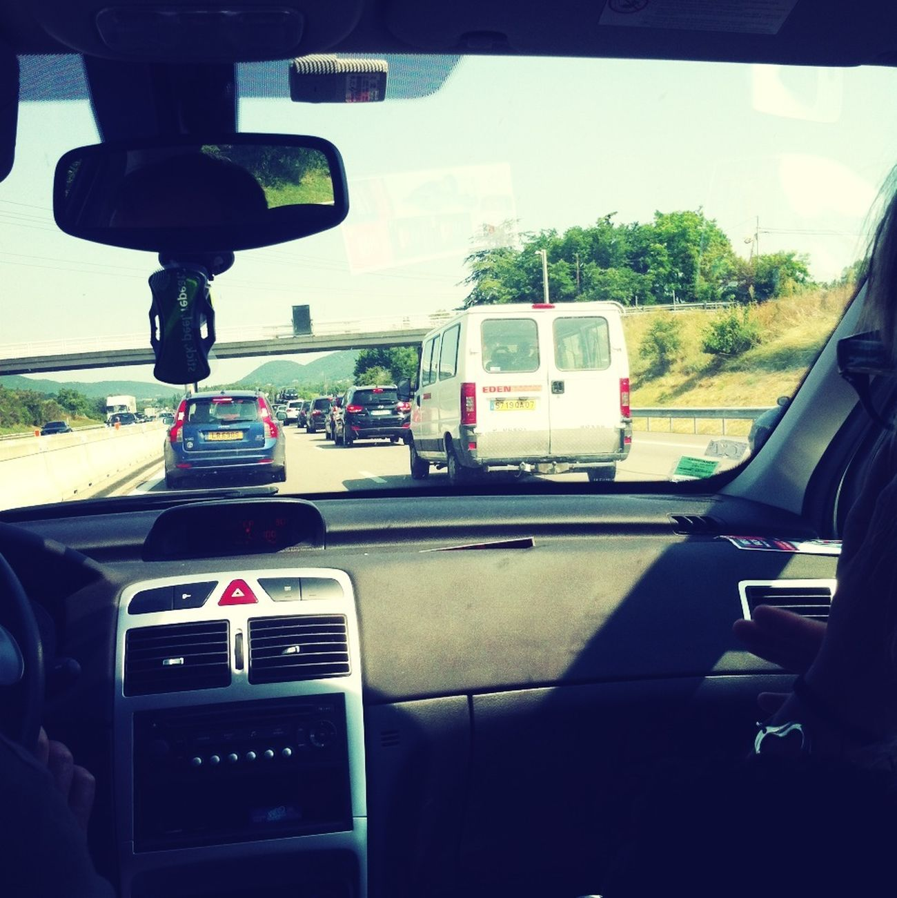 Traffic Signal In Traffic Travelling