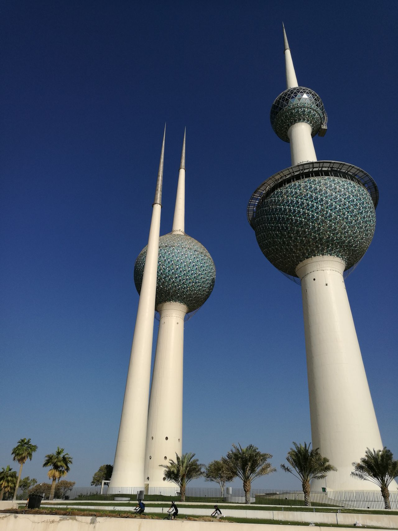 Kuwait Towers Blue Tower Low Angle View Architecture Travel Destinations No People Outdoors Travel Dome Architecture Travel Cultures Landmark