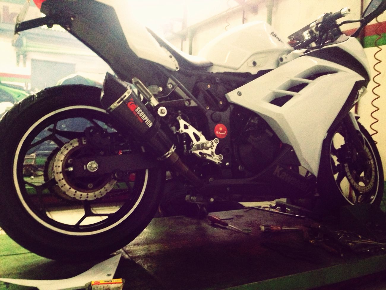 Kawasaki Ninja Workshop Kawasaki Ninja 2013 get well soon baby !