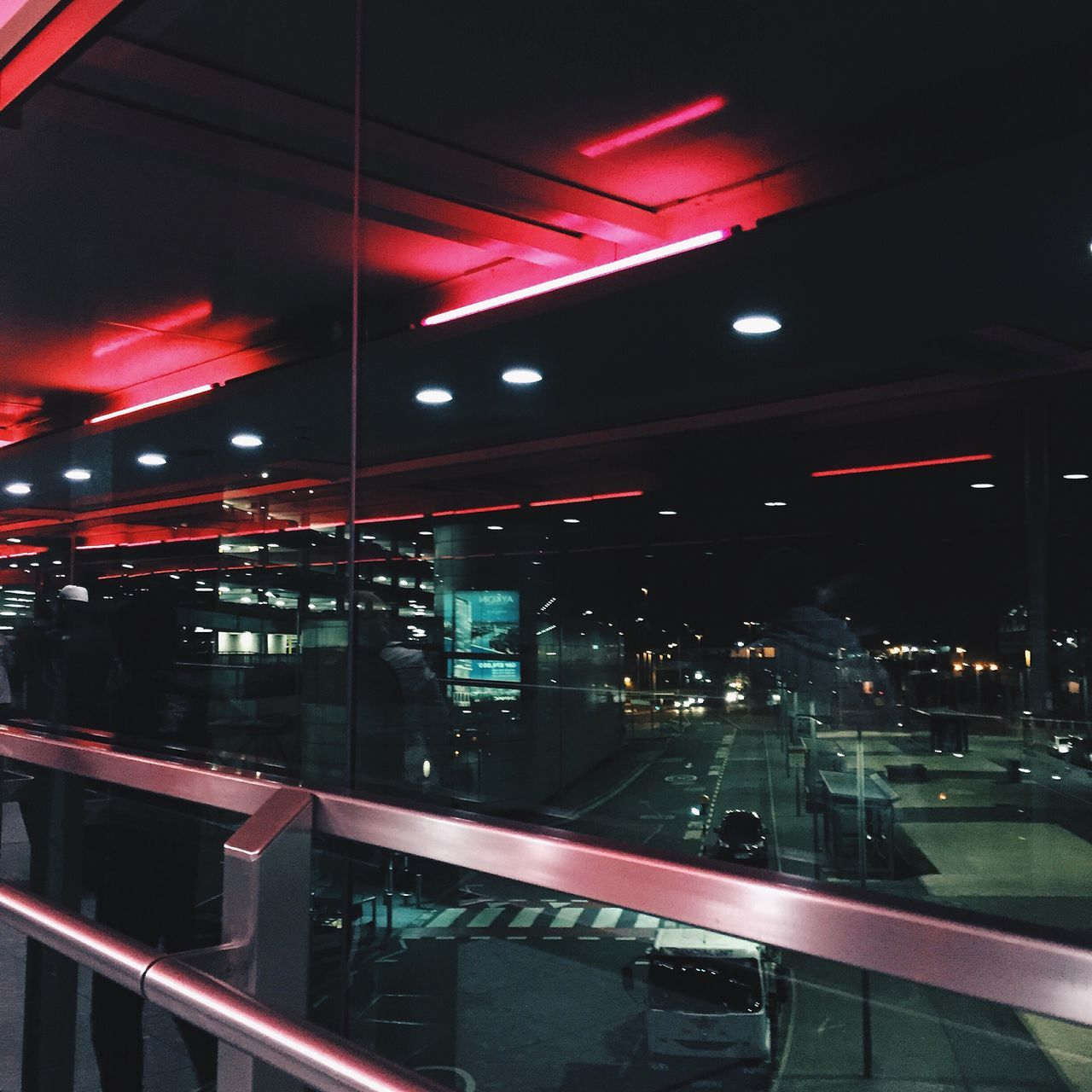 Airport Architecture Built Structure Heathrow Airport Illuminated Indoors  Night No People Red Technology