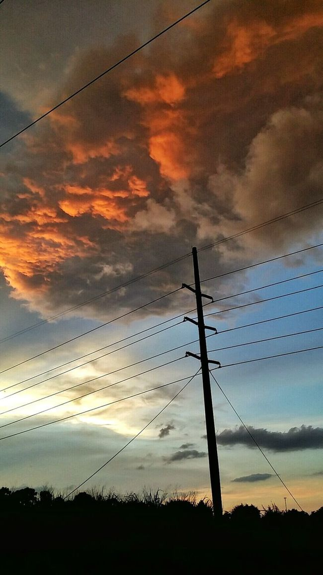 Clouds On Fire Sky And Clouds Stormy Clouds Sunset Hour Burning Sky