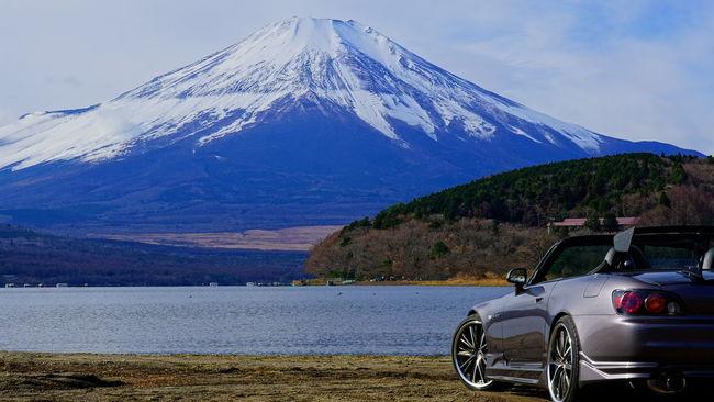 Mt.Fuji First Eyeem Photo Honda Honda S2000 S2000 Car Mt.Fuji Yamanaka Lake Yamanaka Lake Of Japan Lake Yamanaka Japan