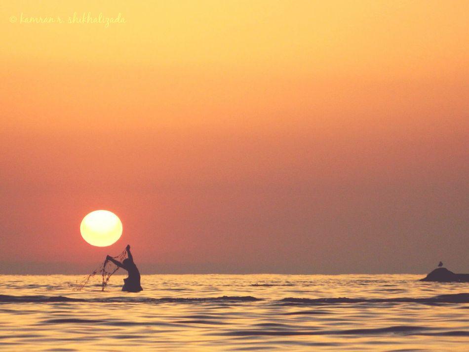 Sumgait Summer Morning Sunrise Sun Fishing Fisherman Azerbaijan Azerbaycan Enjoying Life Optimism Caspiansea Good Morning Kamran Shikhalizada First Eyeem Photo