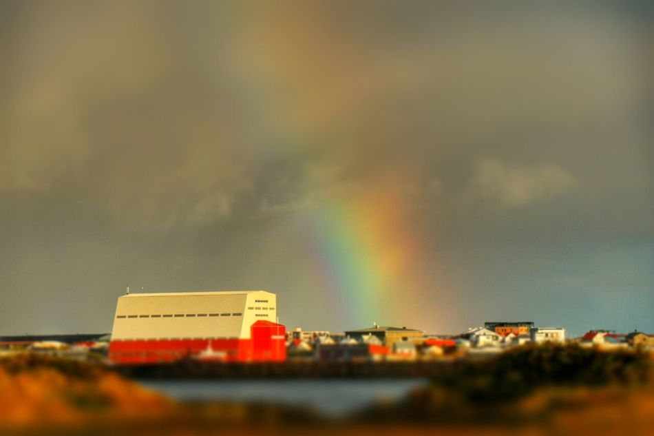 Outdoors Rainbow Autumn Collection Sea_collection Njarðvik Iceland Seaside Bildings