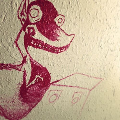 Doodles on the wall. _stufio Bored
