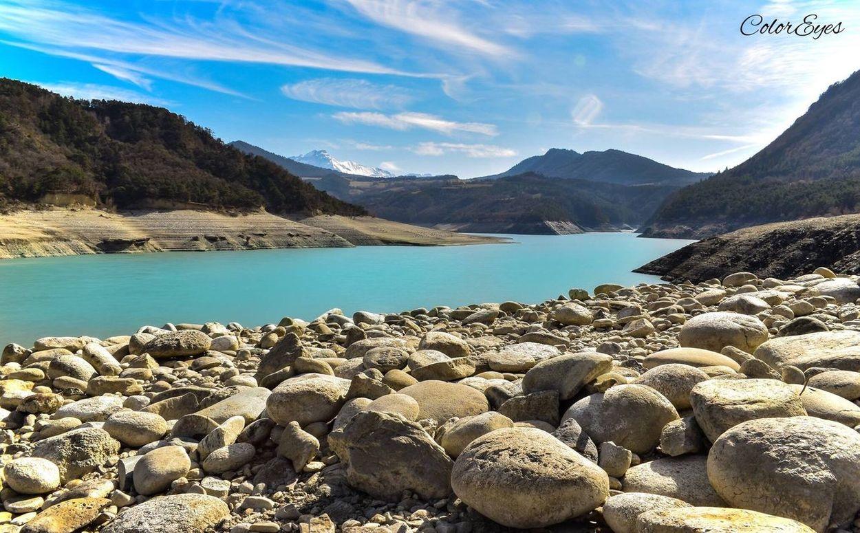 Landscape Grenoble Water Tranquility Tranquil Scene Rock - Object Lake Scenics Mountain Range Monteynard Lac