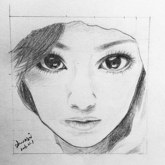 Ayumi Blackandwhite My Work Drawing Painting Done.