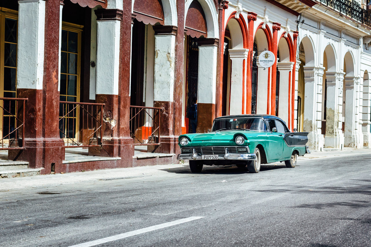 Architecture Building Exterior Built Structure City Cityscape Classic Car Cuba Collection Cuban Cars Cuban Life Old Car Old Havana Old-fashioned Outdoors Parking Street Transportation Travel Travel Destinations