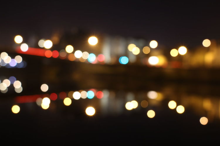 Angers by night ✨ Black Background City Illuminated Light Night Outdoors Photography Reflection