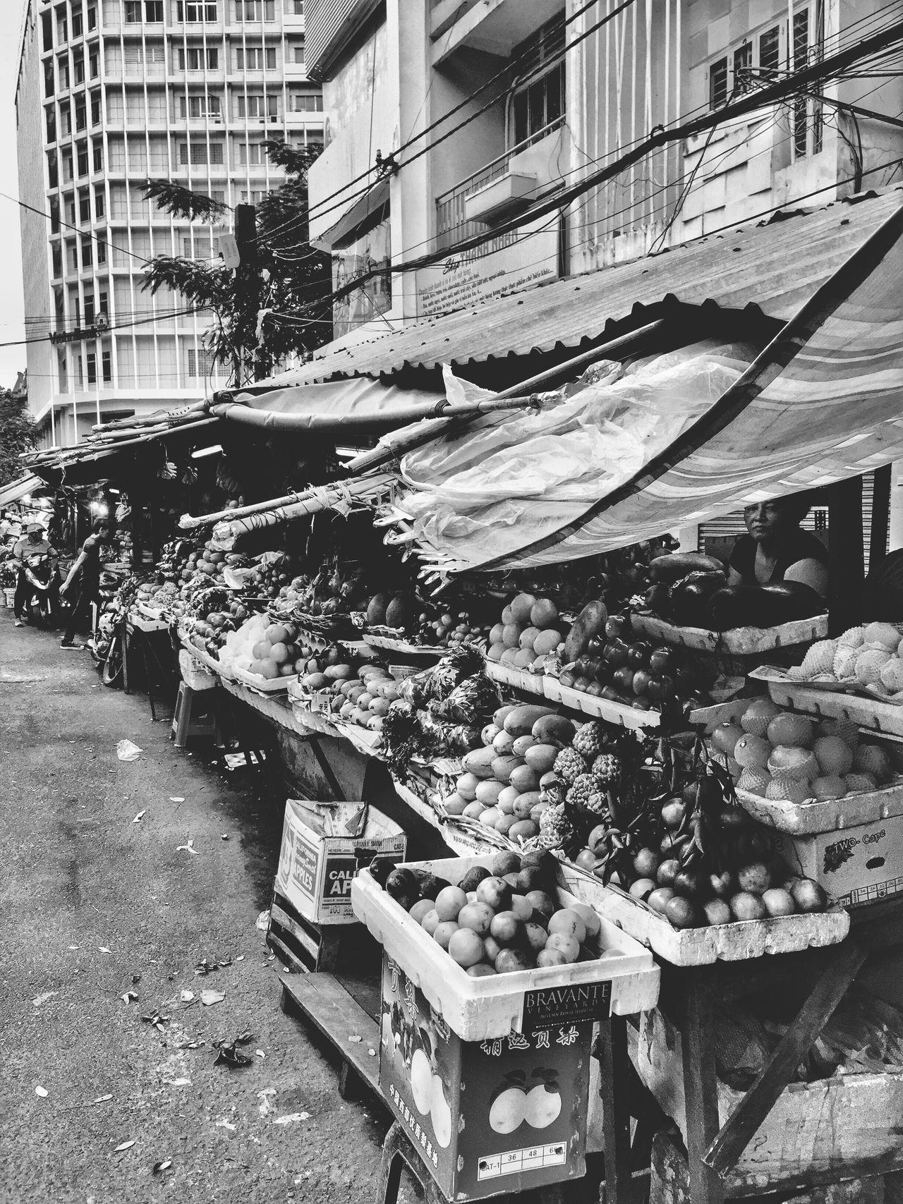 Vietnam Market Eye4photography  Enjoying Life Blackandwhite Monochrome Traveling Seeing The World Taking Photos Hello World People Watching Fruits