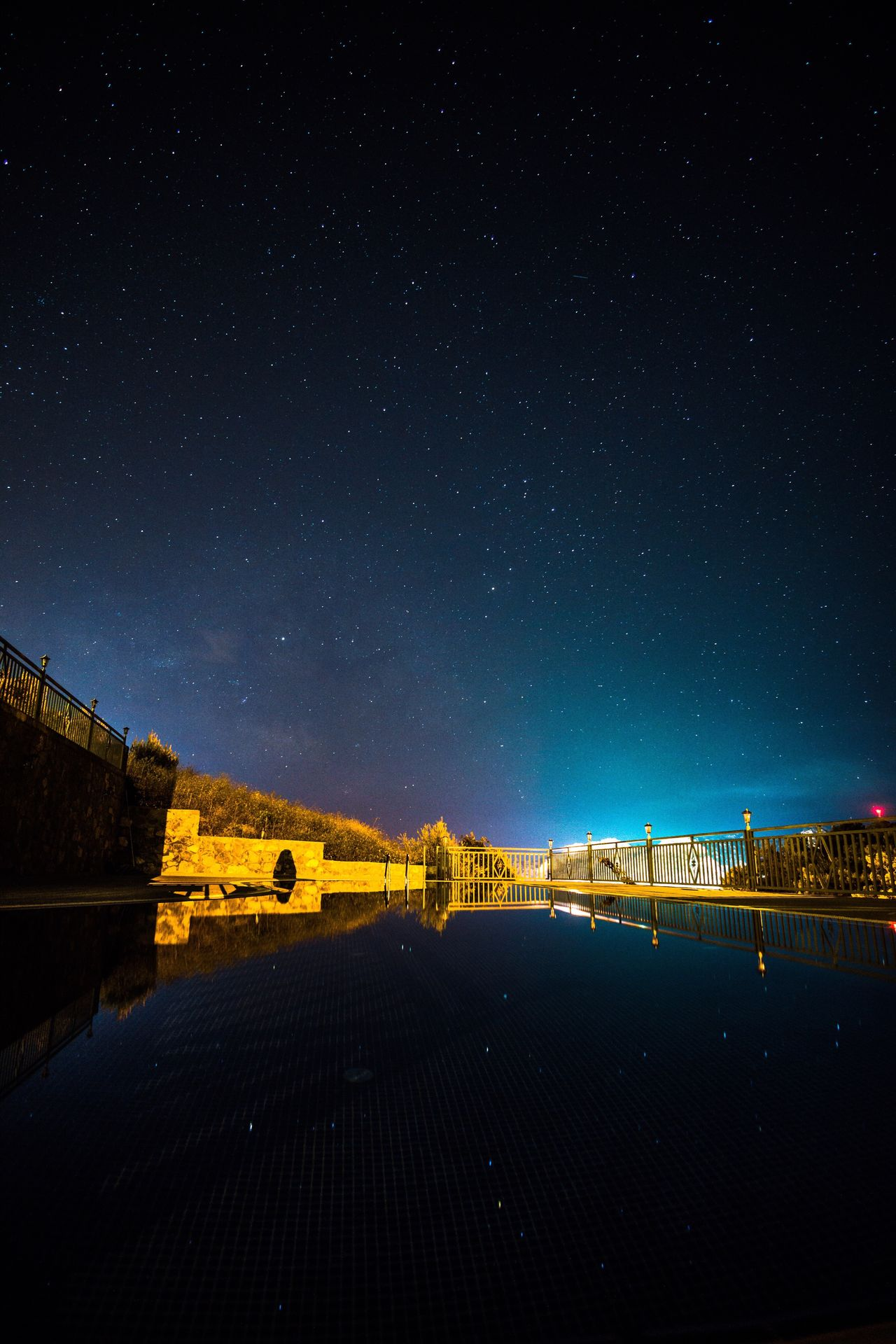 Star - Space Night Bridge - Man Made Structure Sky Scenics Beauty In Nature Nature Water Astronomy Outdoors Architecture Tranquility No People Built Structure Star Field Galaxy Mountain Illuminated Starry Constellation