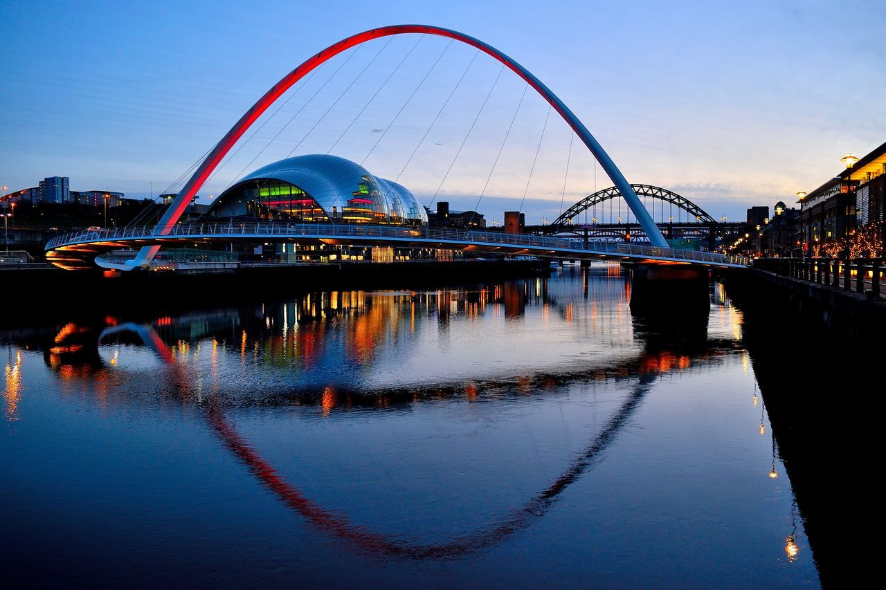 Architecture Bridge - Man Made Structure Building Exterior City City Cityscape Cityscape Dusk Harbor Millenium Bridge Night Nightphotography No People Outdoors Reflection River Riverside Silhouette Sky The Sage Travel Destinations Tyne Vacations Water Water Reflections