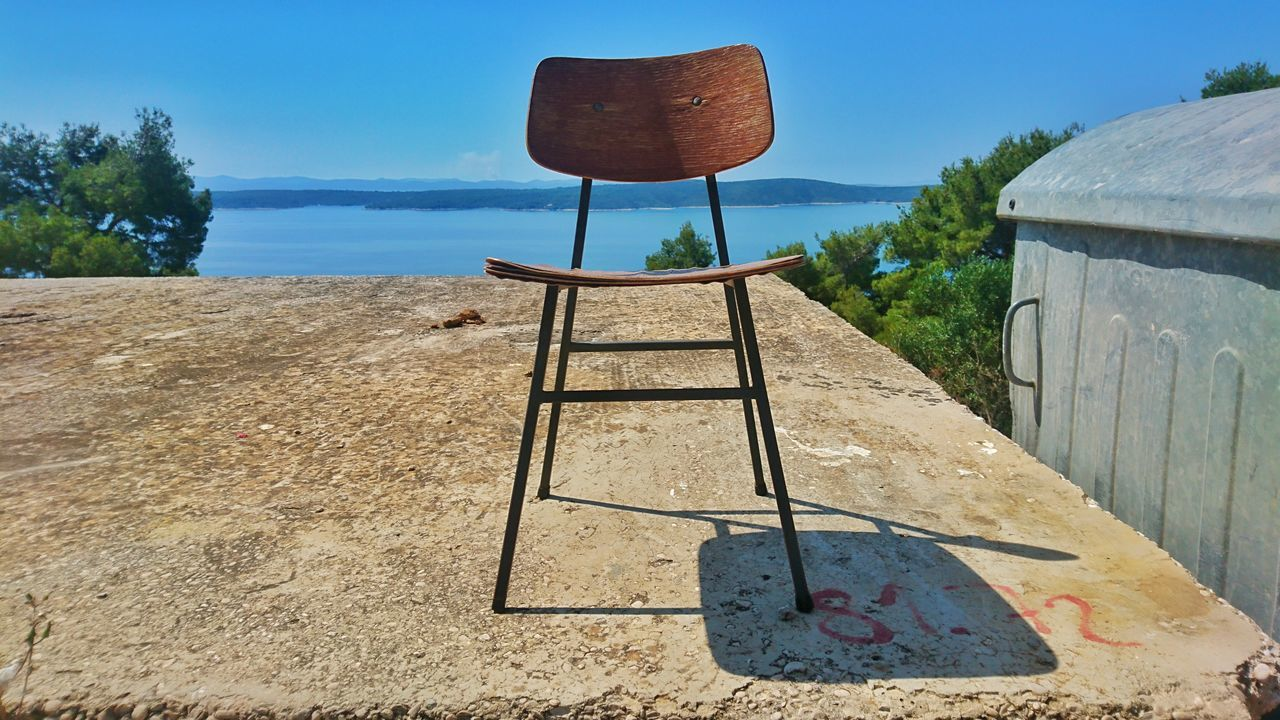 Clear Sky Water Seat Outdoors Non-urban Scene Sunshade Sea Blue Hvar Island Hvar Croatia Ocean View Sea View Sunnysunday Ocean View Vacation Blue Water Morning View Enjoying Life Personal Perspective Streetphotography
