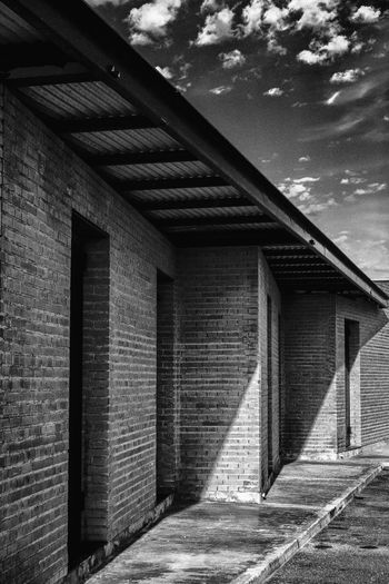 Architecture Built Structure Architectural Column Building Exterior Nautical Port Harbourlife El Campello Black And White Collection  Black & White Photography Bricks And Cement Brick Wall On The Side Wall Textures Entrance Portal Entrance Area Perspective Photography Cloudy Day Nautical Life Fishermen's Life Travel Destinations Business Finance And Industry Box Office Blockbuster Monochrome Photography MonochromePhotography Monochrome