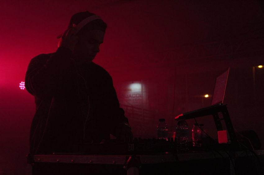 Concert Dj Illuminated Lights Music Night Red Shadows & Lights Silhouette Smile Streetphotography Urbanphotography