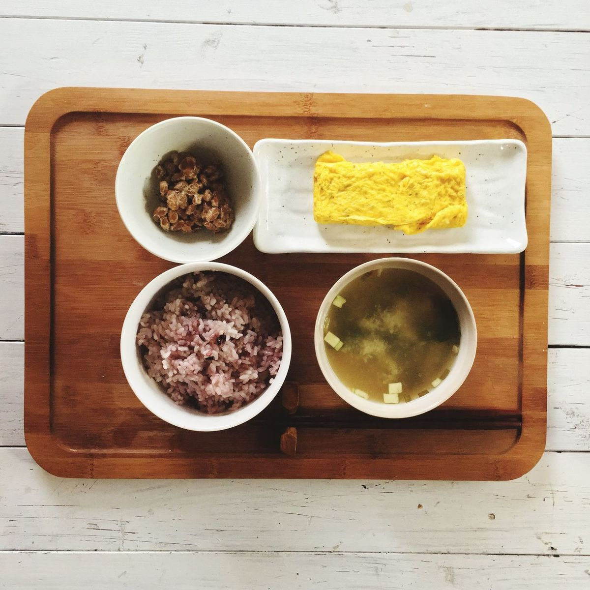 朝ごはん パパめし 納豆 たまご焼き Onthetable Breakfast