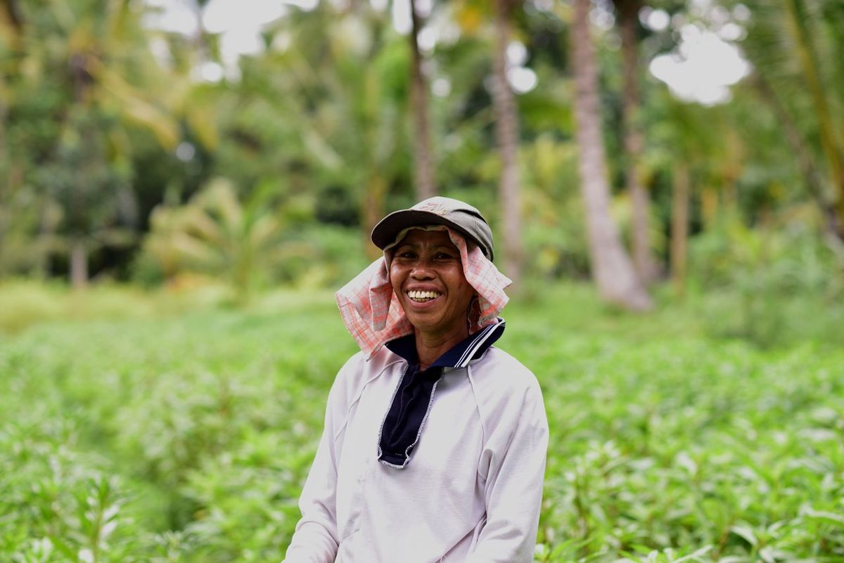 Happy at work Bali Bali Art And Culture Bali Indonesia Farming Happiness Lifestyles Looking At Camera Manual Labor Person Smiling