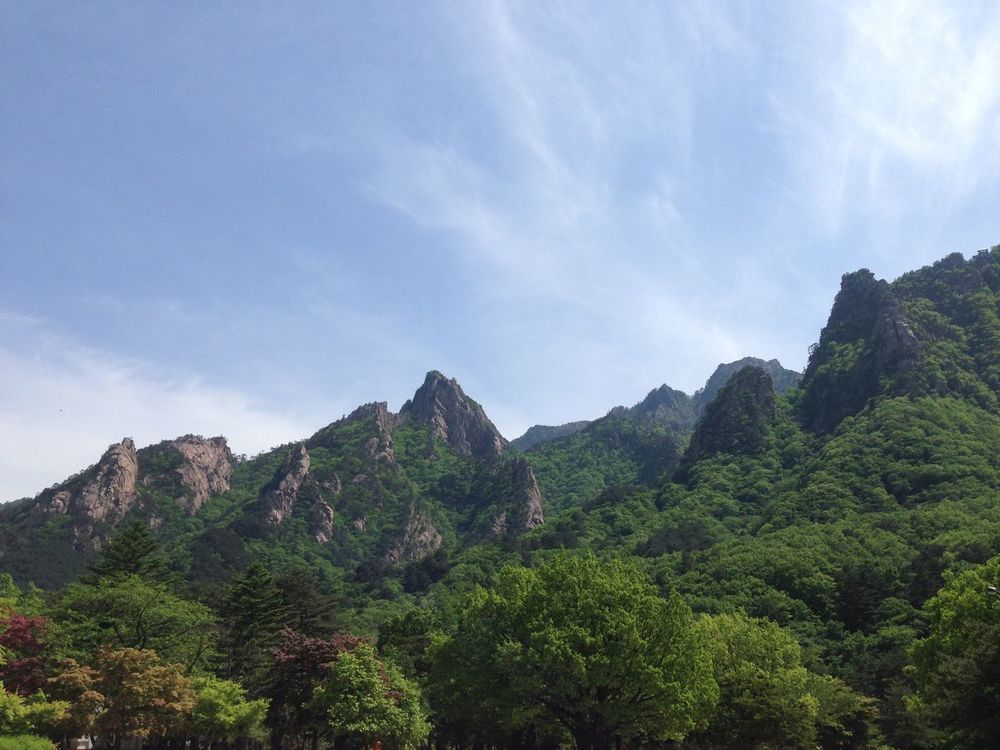 Mountain Sky Nature Beauty In Nature Tranquility Scenics Tree Outdoors Landscape No People Mountain Range Tranquil Scene Growth Day Seoraksan National Park Korea