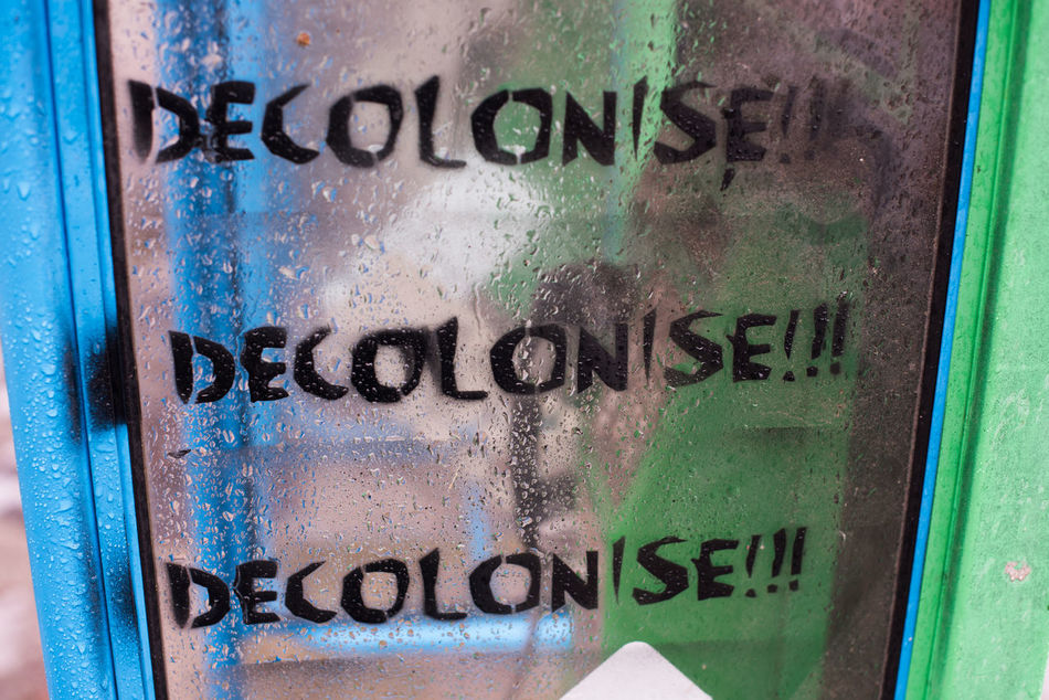 Decolonise Communication Decolonise No People South Africa Stencil Stencil Art Text