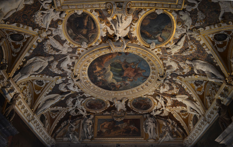 Architecture Ceiling Dogenpalast Famous Place Fresco Historical Building Historical Sights No People Palazzo Ducale Place Of Worship Travel Destinations Venezia