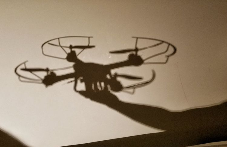 Be Ready Drone  Light And Shadow Monochrome I Am Ready Be. Ready.