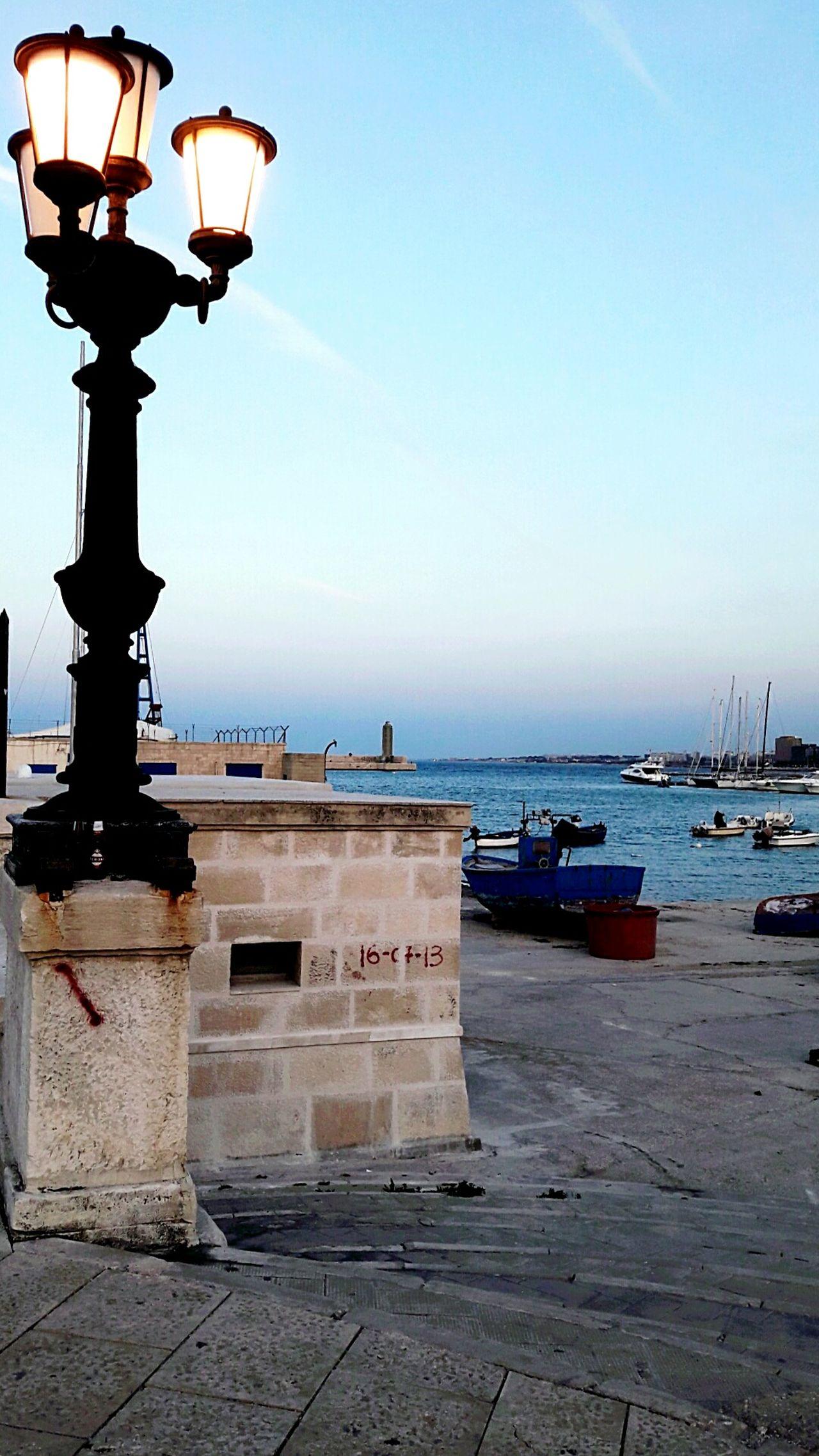Sea Sky City No People Outdoors Day Beauty In Nature Photography Puglia City Bari Landscape Italy Street Light