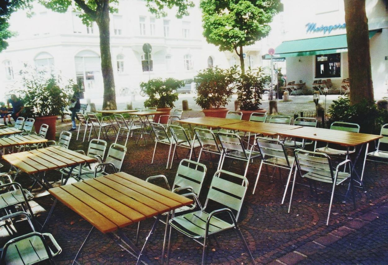 Outdoor Cafe Outdoors No People Day Munich, Germany Documentary Photography Film Photography Analogue Photography 35mm Film Photography Minimalistic Everyday Lives Color Photography Kodakfilm 35mm Film Munich Colours