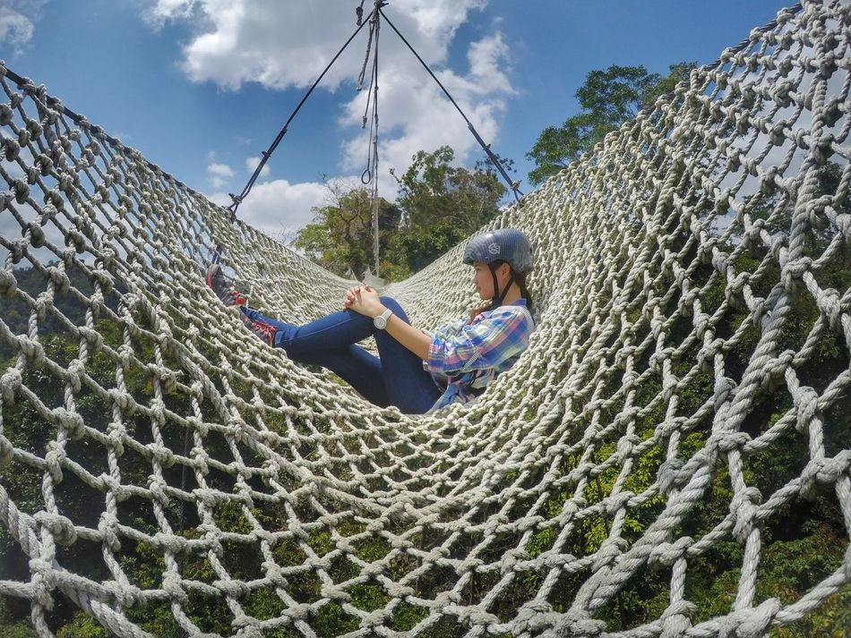 Swing Outdoors Nature Day Tree Cloud - Sky Weekend ♥ Adventure WondersOfNature Tranquil Scene The Way Forward
