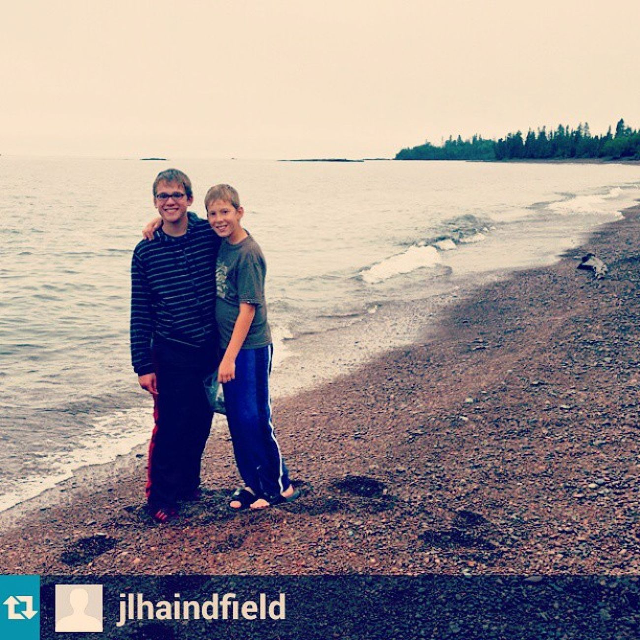 Repost from @jlhaindfield with @repostapp — Looking for agates on the North Shore