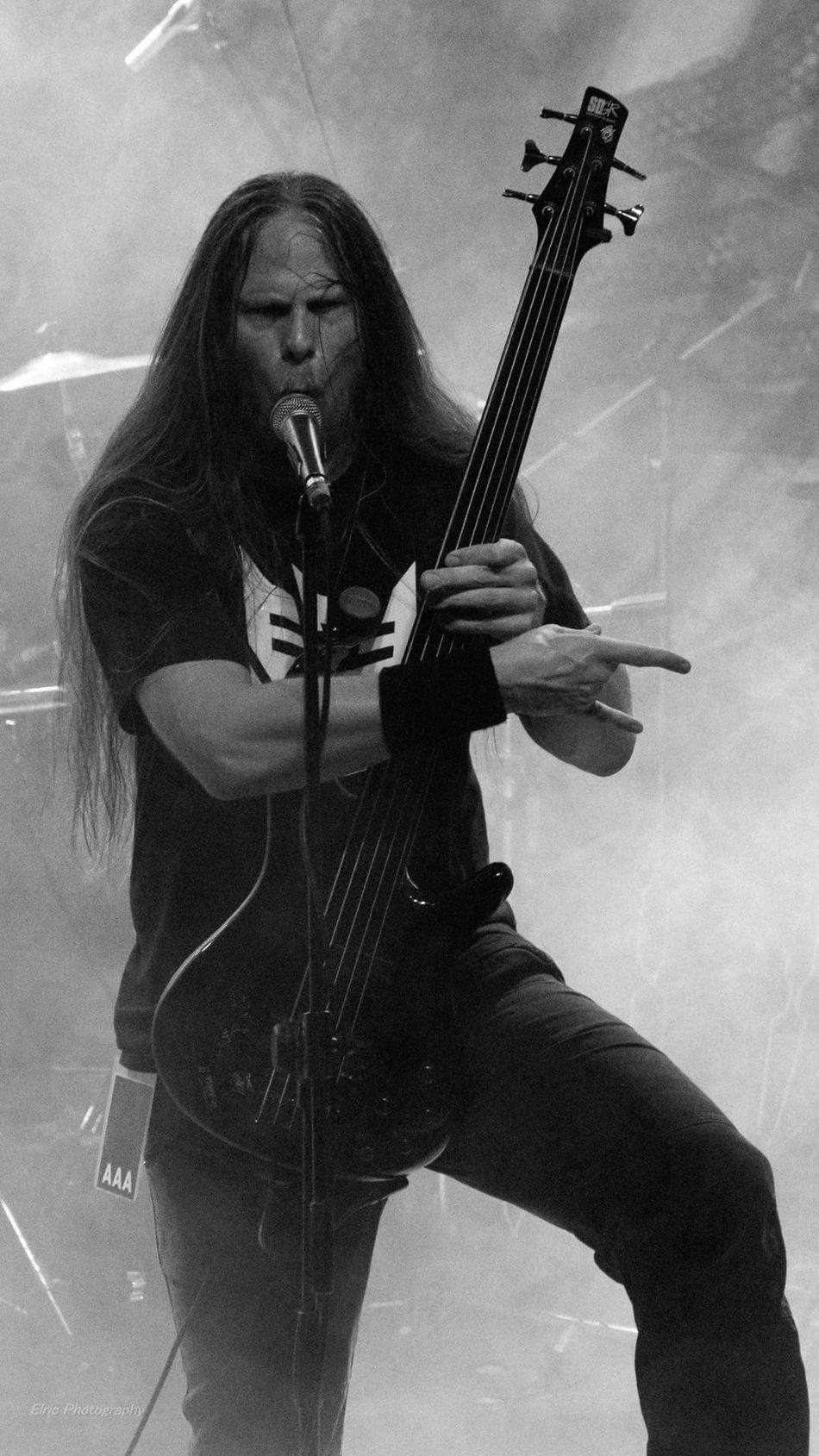 The Monolith Deathcult Live Live Music Concert Sony A6000 18-105mm Athens Greece Enjoying Life My Point Of View Heavy Metal Death Metal Musicians Black And White Photography Black And White Portrait Devil Horns Unholy Taking Photos Capture The Moment Catch The Moment
