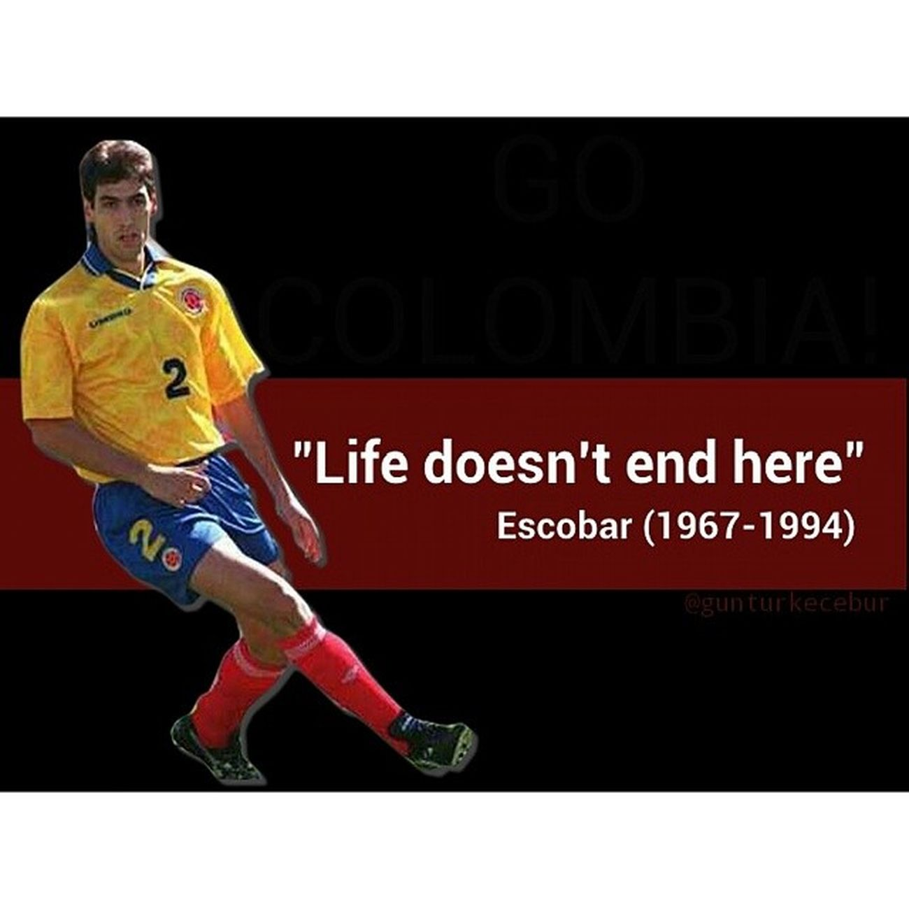 Remembering 20th years of Andrés Escobar death.