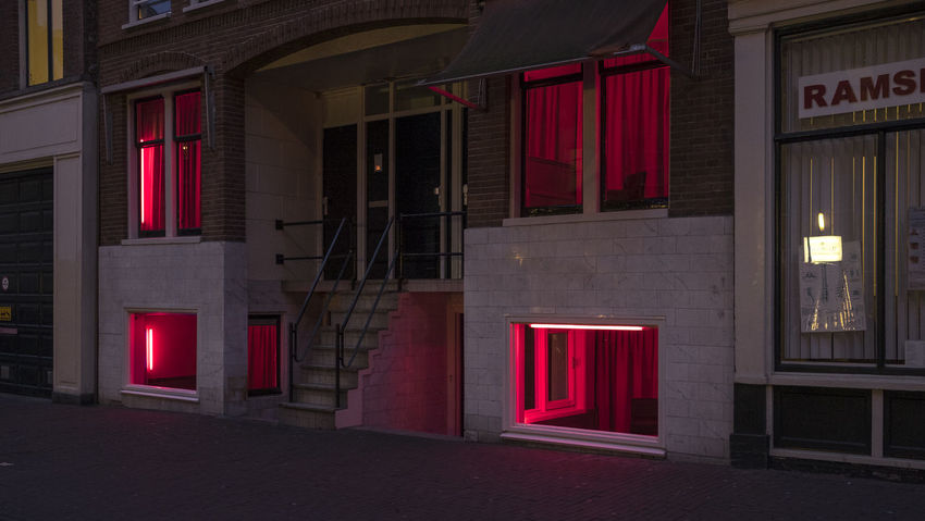 Red light district Amsterdam Building Building Exterior City Life Entrance Red Light Red Light District Steps And Staircases Urban Window