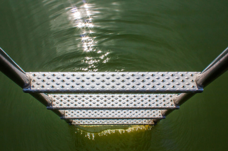 Bathing Chiemsee Close-up Day High Angle View Ladders Lake Metal Nature No People Outdoors Reflection Reflections In The Water Swimming Pier Water Waterfront