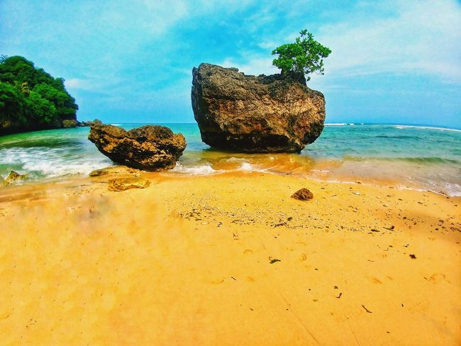 Bali, Indonesia PadangPadang Padangpadang Beach, Bali Sea Nature Sand Rock - Object Beach Water No People Beauty In Nature Sky Outdoors