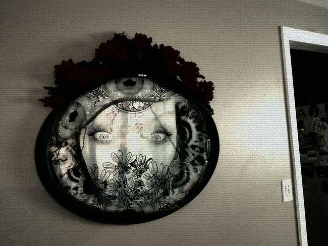 Mirrors creepy Reflections No People Close-up Indoors  Day Creepy Face Creepywindowsunday Pixlrdoubleexposure