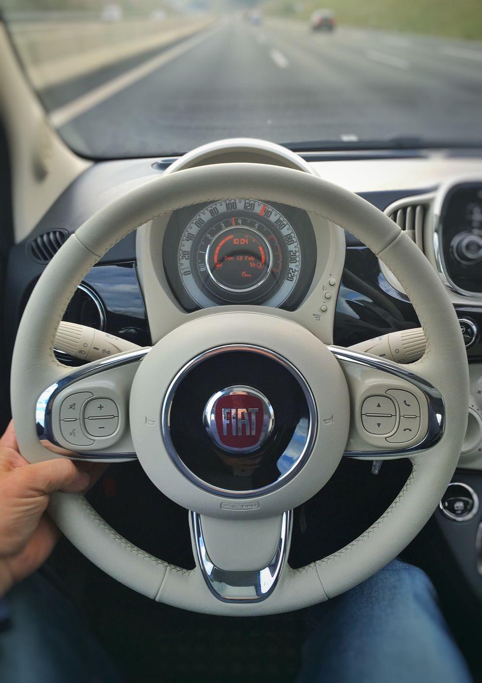 …in this fancy *brand new* #Fiat500 en route to Nürnberg!