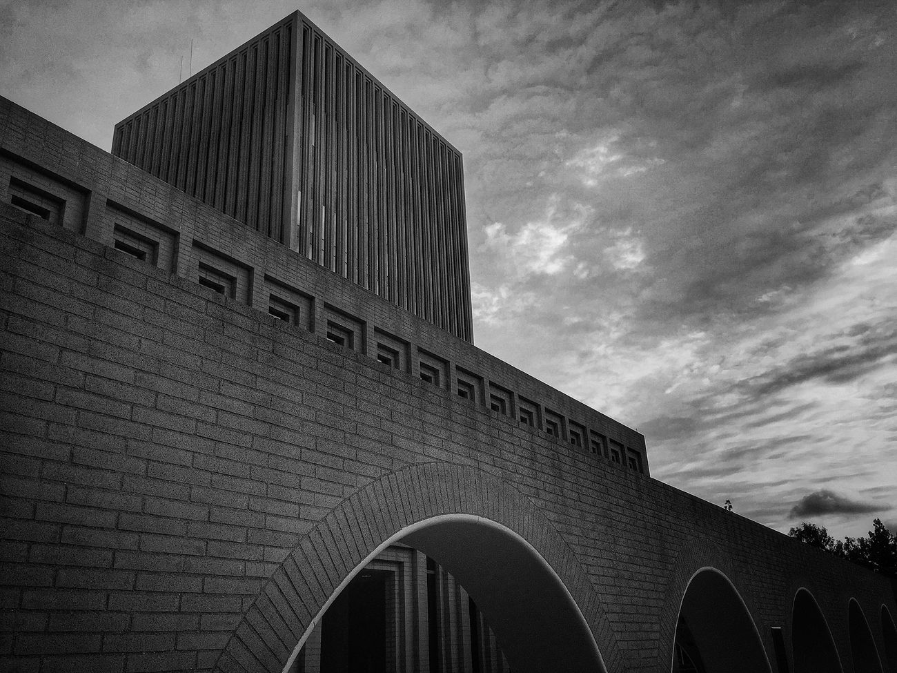 USC USC  Losangeles DowntownLA Imthe1will Architecture_bw Architecture Architecture_collection Bricks Brick Blackandwhite