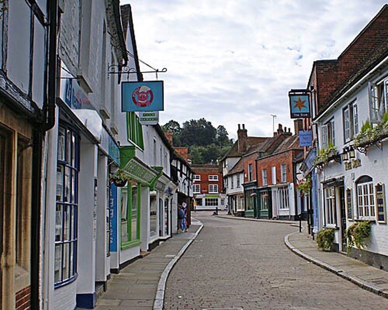 Church Street in Godalming Surrey UK. Church Churches Church Street Godalming Surrey uk England The Holiday