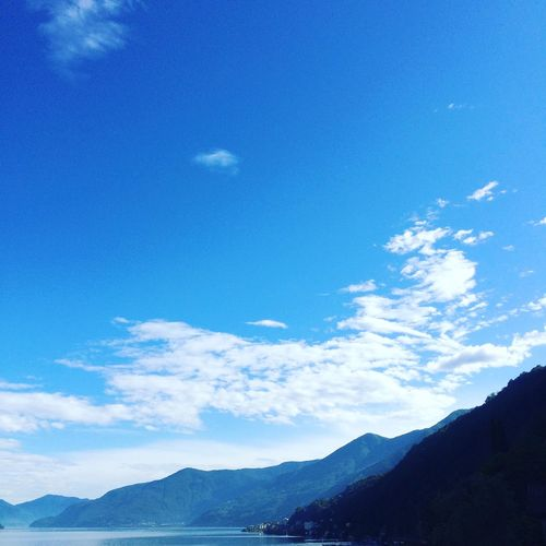Lagomaggiore Sky Scenics Blue Mountain Nature Beauty In Nature Tranquility Landscape Outdoors Day No People Swiss Switzerland