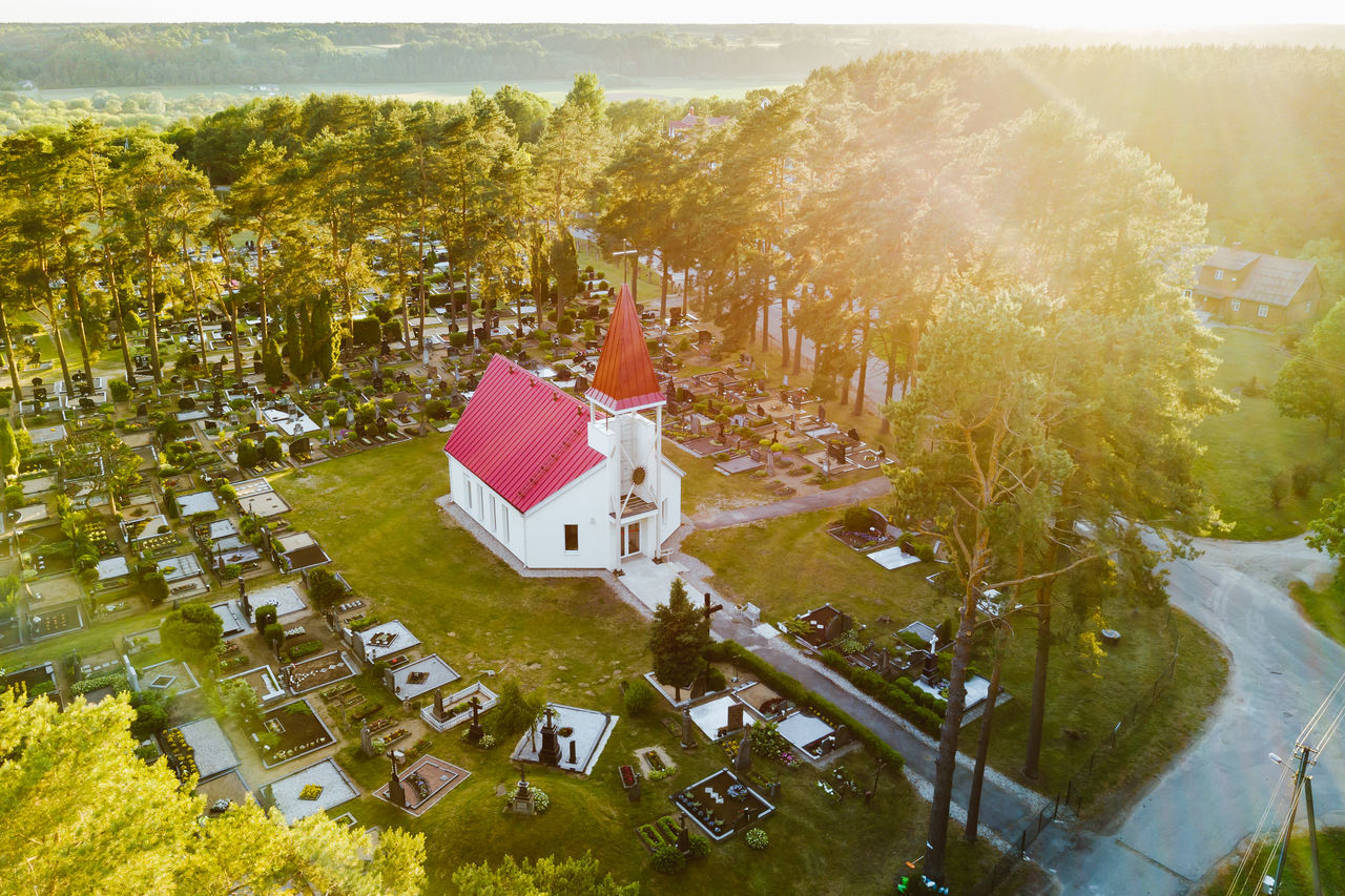 Church in Pastuva, Kaunas county, Lithuania Architecture Building Exterior Built Structure Church Day Drone  Grass Landscape Mavic Mavic Pro Nature No People Outdoors Pastuva Sunset Tree