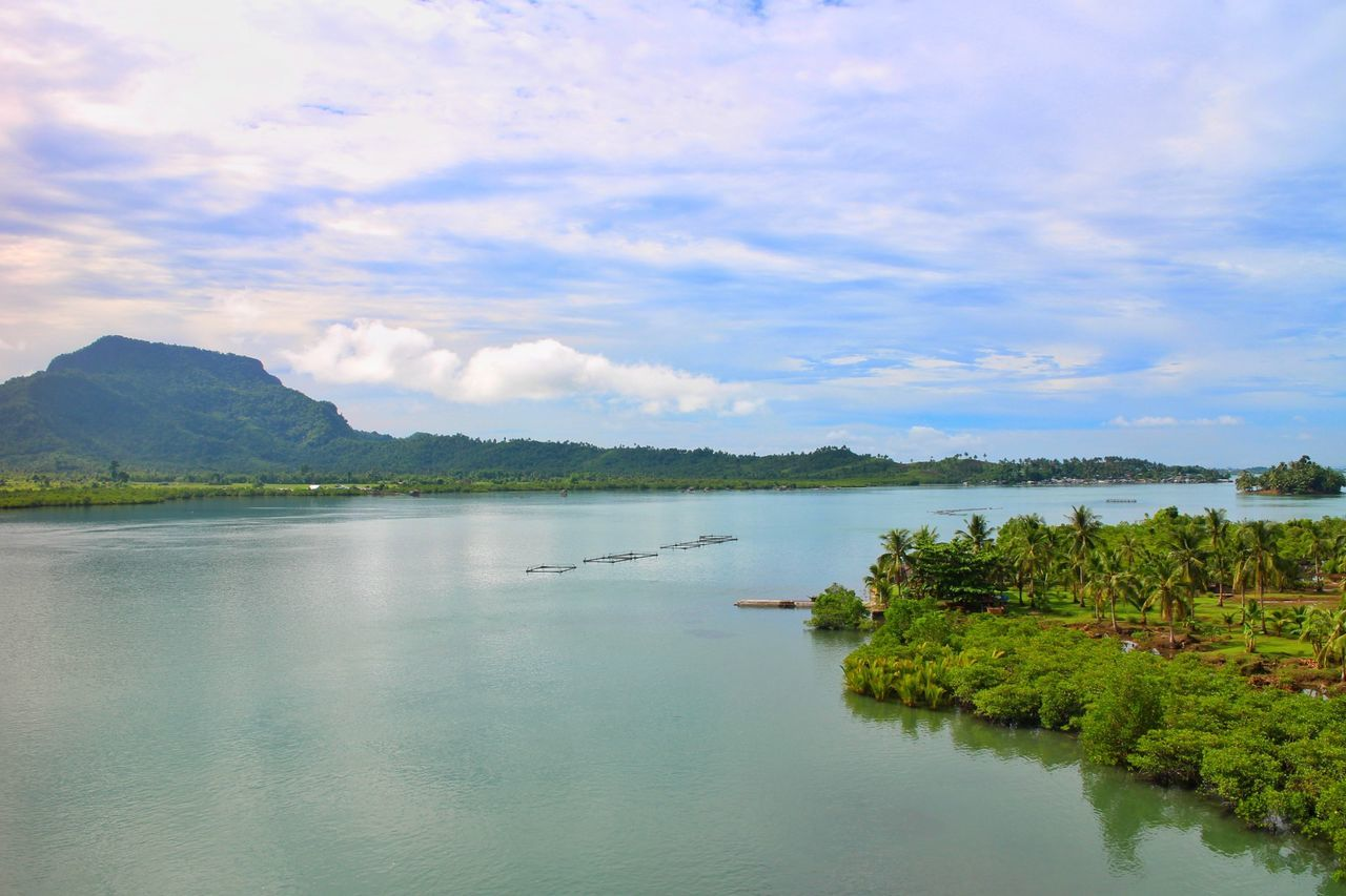 view from San Juanico [2/2] Lake Water Scenics Landscape Tranquility Nature Sky Mountain Beauty In Nature Tree Tranquil Scene Outdoors Cloud - Sky Travel Destinations No People Blue Day Rural Scene Vacations Sanjuanicobridge Philippines Samar Sanjuanicobridgeview Leyte