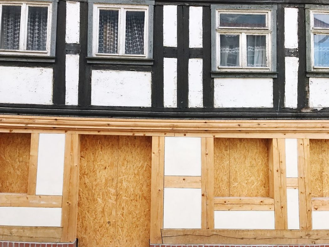 Old House Renovation Half Timbered Half Timbered House Renovating Architecture Building Exterior Built Structure Window House Residential Building Wood - Material No People Backgrounds Outdoors Day